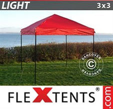 Pop up Canopy FleXtents Light 3x3 m Red