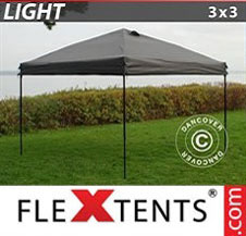 Pop up Canopy FleXtents Light 3x3 m Grey