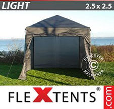 Pop up Canopy FleXtents Light 2.5x2.5 m Grey, incl. 4 sidewalls