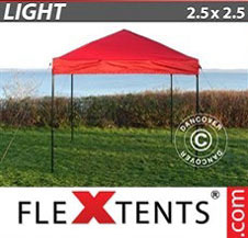 Pop up Canopy FleXtents Light 2.5x2.5 m Red