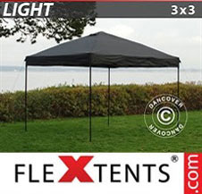 Pop up Canopy FleXtents Light 3x3 m Black