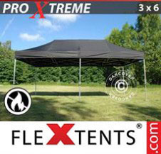 Pop up Canopy FleXtents Pro Xtreme 3x6 m Black, Flame retardant