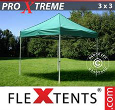 Pop up Canopy FleXtents Pro Xtreme 3x3 m Green