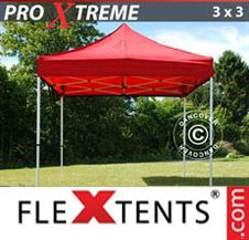 Pop up Canopy FleXtents Pro Xtreme 3x3 m Red