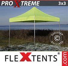 Pop up Canopy FleXtents Pro Xtreme 3x3 m Neon yellow/green