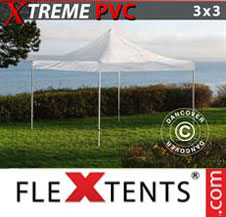 Pop up Canopy FleXtents Pro Xtreme 3x3 m Clear