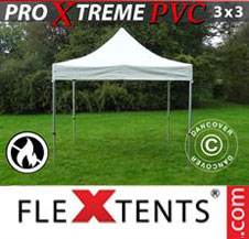 Pop up Canopy FleXtents Pro Xtreme Heavy Duty 3x3 m, White