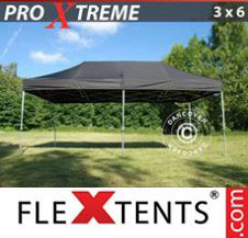 Pop up Canopy FleXtents Pro Xtreme 3x6 m Black