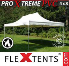 Pop up Canopy FleXtents Pro Xtreme Heavy Duty 4x8 m, White
