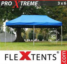 Pop up Canopy FleXtents Pro Xtreme 3x6 m Blue
