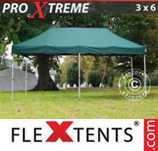 Pop up Canopy FleXtents Pro Xtreme 3x6 m Green