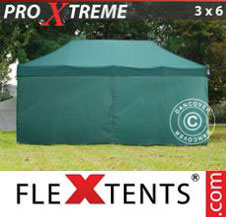 Pop up Canopy FleXtents Pro Xtreme 3x6 m Green, incl. 6 sidewalls