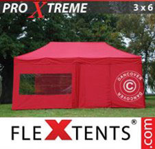 Pop up Canopy FleXtents Pro Xtreme 3x6 m Red, incl. 6 sidewalls