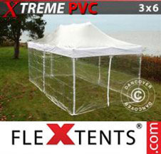 Pop up Canopy FleXtents Pro Xtreme 3x6 m Clear, incl. 6 sidewalls