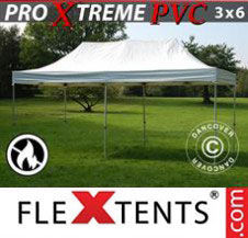 Pop up Canopy FleXtents Pro Xtreme Heavy Duty 3x6 m, White