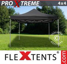 Pop up Canopy FleXtents Pro Xtreme 4x4 m Black