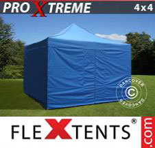 Pop up Canopy FleXtents Pro Xtreme 4x4 m Blue, incl. 4 sidewalls
