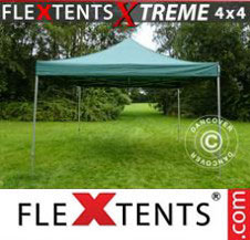 Pop up Canopy FleXtents Pro Xtreme 4x4 m Green