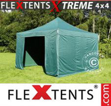 Pop up Canopy FleXtents Pro Xtreme 4x4 m Green, incl. 4 sidewalls