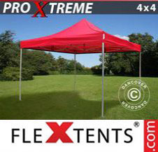 Pop up Canopy FleXtents Pro Xtreme 4x4 m Red