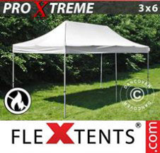 Pop up Canopy FleXtents Pro Xtreme 3x6 m White, Flame retardant