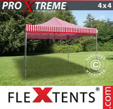 Pop up Canopy FleXtents Pro Xtreme 4x4 m Striped