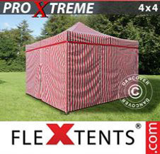 Pop up Canopy FleXtents Pro Xtreme 4x4 m Striped incl. 4 sidewalls