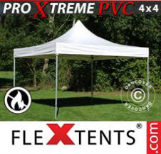 Pop up Canopy FleXtents Pro Xtreme Heavy Duty 4x4 m, White