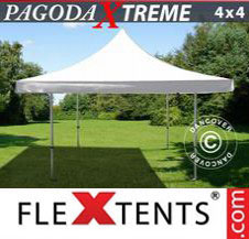 Pop up Canopy FleXtents Pro Xtreme 4x4 m / (5x5 m) White