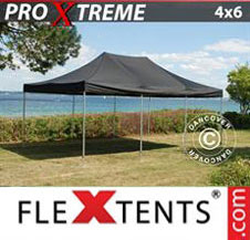 Pop up Canopy FleXtents Pro Xtreme 4x6 m Black