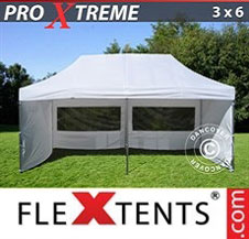 Pop up Canopy FleXtents Pro Xtreme 3x6 m White, incl. 6 sidewalls