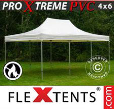 Pop up Canopy FleXtents Pro Xtreme Heavy Duty 4x6 m, White