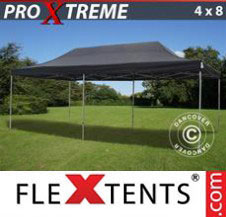 Pop up Canopy FleXtents Pro Xtreme 4x8 m Black