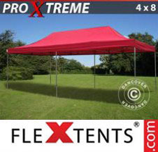 Pop up Canopy FleXtents Pro Xtreme 4x8 m Red