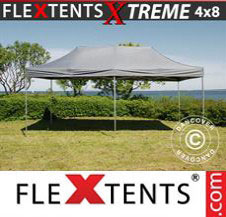 Pop up Canopy FleXtents Pro Xtreme 4x8 m Grey