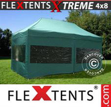 Pop up Canopy FleXtents Pro Xtreme 4x8 m Green, incl. 6 sidewalls