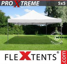 Pop up Canopy FleXtents Pro Xtreme 5x5 m White
