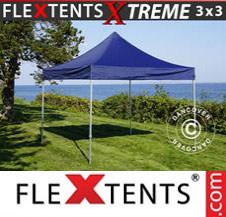 Pop up Canopy FleXtents Pro Xtreme 3x3 m Dark blue