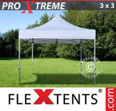 Pop up Canopy FleXtents Pro Xtreme 3x3 m White