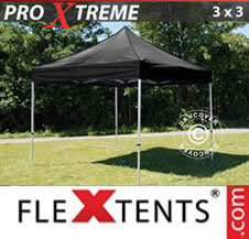 Pop up Canopy FleXtents Pro Xtreme 3x3 m Black