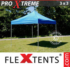 Pop up Canopy FleXtents Pro Xtreme 3x3 m Blue